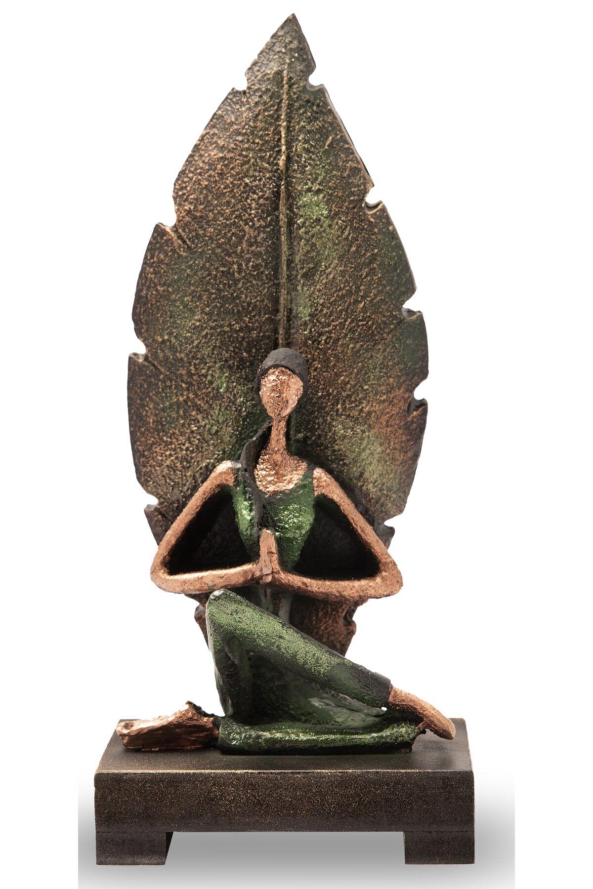 Yoga Yapan Kadın Yeşil 23 Cm