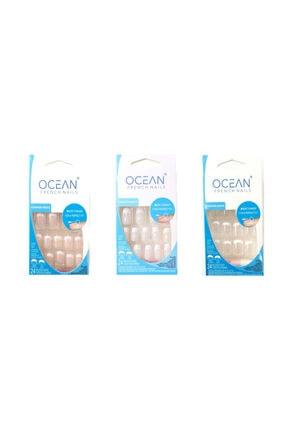 Ocean French 3'lü Takma Tırnak Set, Tak Ve Çık 0
