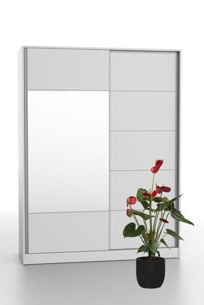 DEKOREX Srg-106-beyaz -sürgü Kapaklı Aynalı Eko Gardırop 3