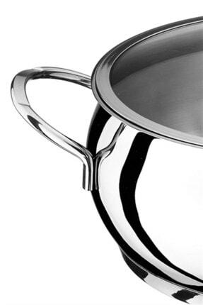 Akdeniz Merkür 22 cm 4,00 lt Metal Kulp Derin Tencere 1