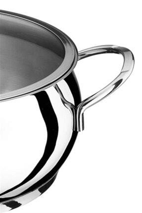 Akdeniz Merkür 22 cm 4,00 lt Metal Kulp Derin Tencere 2