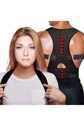 Ecoform Kanburluk Önleyici Ayarlanabilir Posturex Manyetik Medikal Ortopedik Dik Duruş Korsesi 1