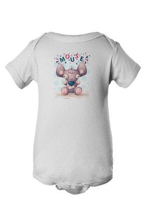 Angemiel Baby Şirin Fare Erkek Bebek Zıbın Beyaz 1