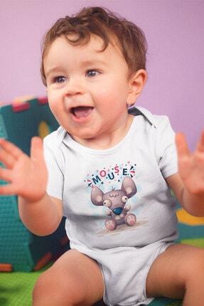 Angemiel Baby Şirin Fare Erkek Bebek Zıbın Beyaz 2