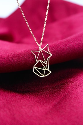 Silver&Silver Kadın Rose Origami Tilki Kolye 0