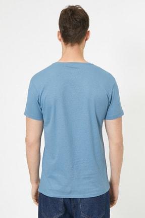 Koton Erkek Mavi T-Shirt 0YAM12136LK 2