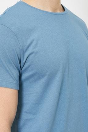 Koton Erkek Mavi T-Shirt 0YAM12136LK 3