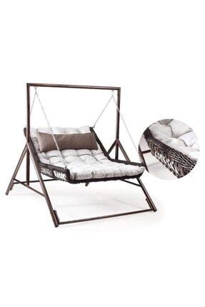Capri swing Modern Salıncak Yatak Capri Bed Çiftli Rattan Bahçe Balkon Teras Salıncağı 2