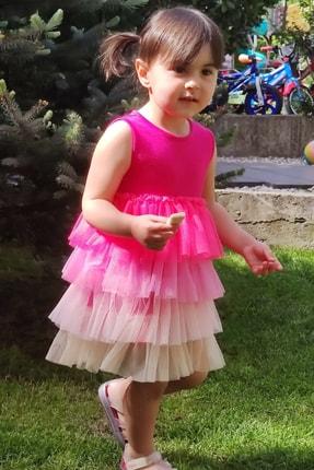 تصویر از Rainbow Baby Elbise Fuşya