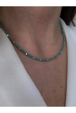 Serpil Jewellery Kadın Turkuaz Doğaltaşlı Tasarım Kolye 1