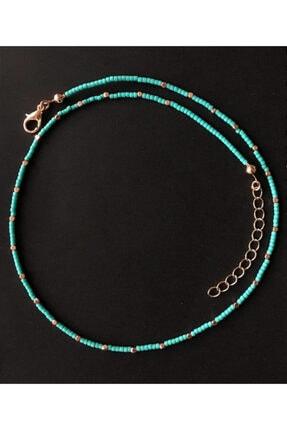 Serpil Jewellery Kadın Turkuaz Doğaltaşlı Tasarım Kolye 2
