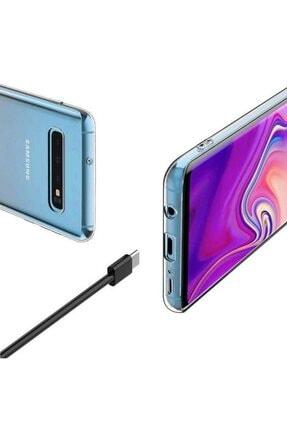 ACK Samsung Galaxy S10 Kılıf Mükemmel Kalite Sararmaz Şeffaf Süper Silikon 2