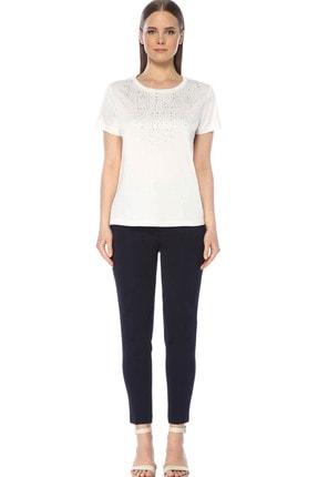 Network Kadın Regular Fit Beyaz Tshirt 1073507 1