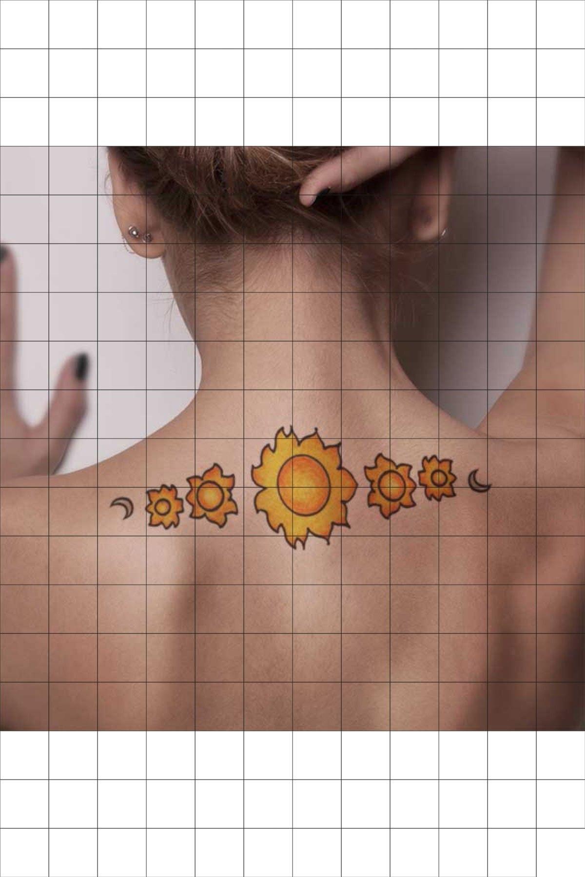 TatFast Gök 1553 Geçici Dövme Flash Tattoo 1