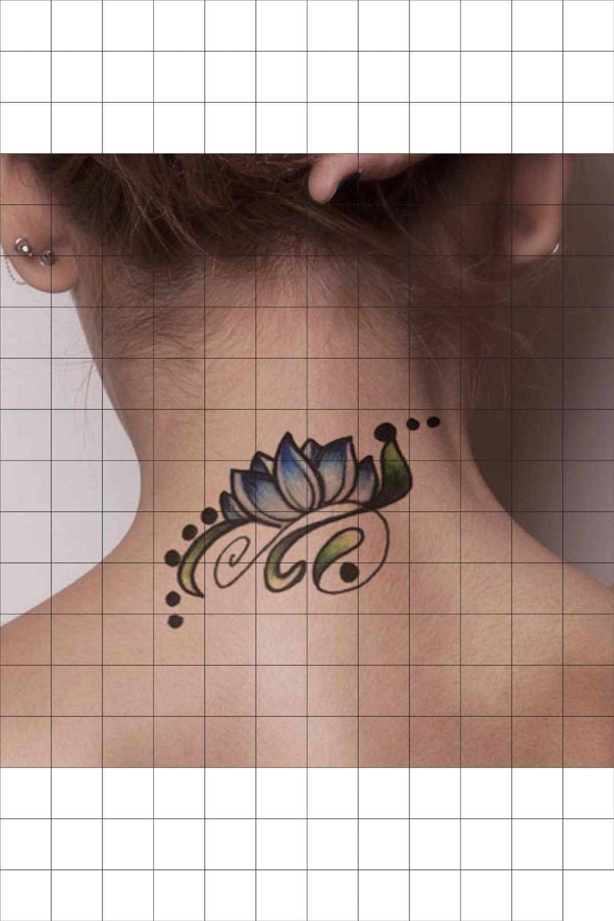 TatFast Lotus 218 Geçici Dövme Flash Tattoo 1
