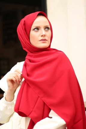 Stella Medine Ipeği Şal Kırmızı 3