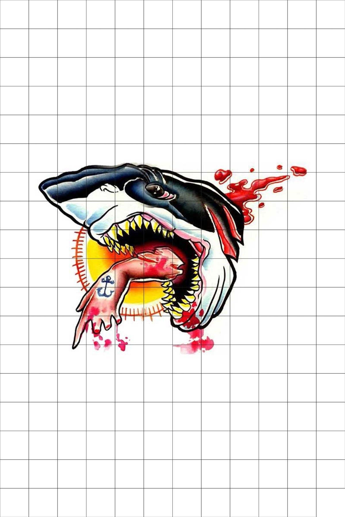 TatFast Deniz Yaratığı 640 Geçici Dövme Flash Tattoo 0