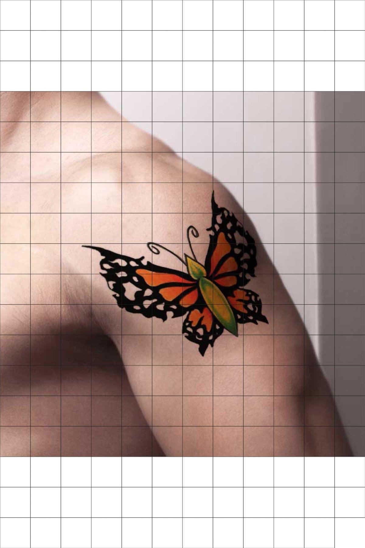 TatFast Kelebek 1073 Geçici Dövme Flash Tattoo 1