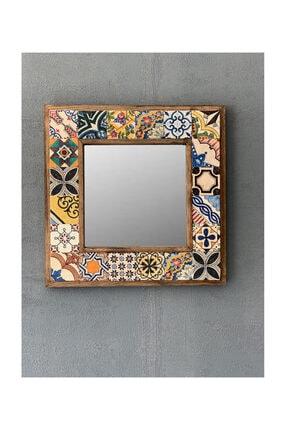 Oscar Stone Decor Çerçeveli Mozaik Doğaltaş Ayna 0