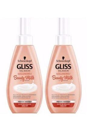 Gliss Canlandirici Sac Bakim Spreyi Beauty Milk 150ml 2 Adet