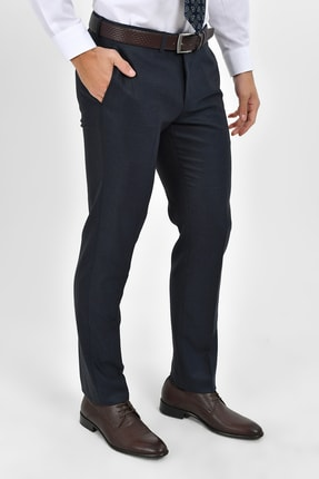 Hatemoğlu Lacivert  Kareli Slim Fit Pantolon 29242019A004 3