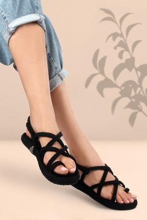 Gökhan Talay Siyah Halat Kadın Sandalet 0