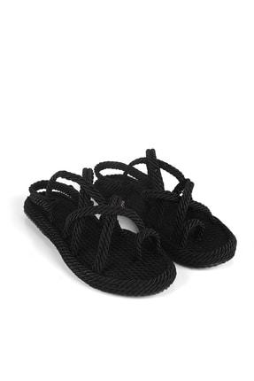 Gökhan Talay Siyah Halat Kadın Sandalet 1