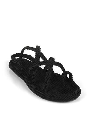 Gökhan Talay Siyah Halat Kadın Sandalet 3