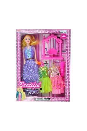 Barbie Kaliteli Beautiful Et Bebek Aynalı Ayakkabılı Taraklı 6 Parça 0