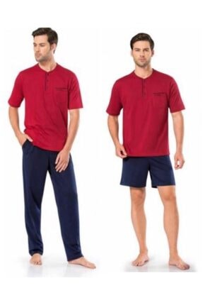 Pierre Cardin 5370 Pijama Şort 3 Lü Damat Çeyiz Seti 2