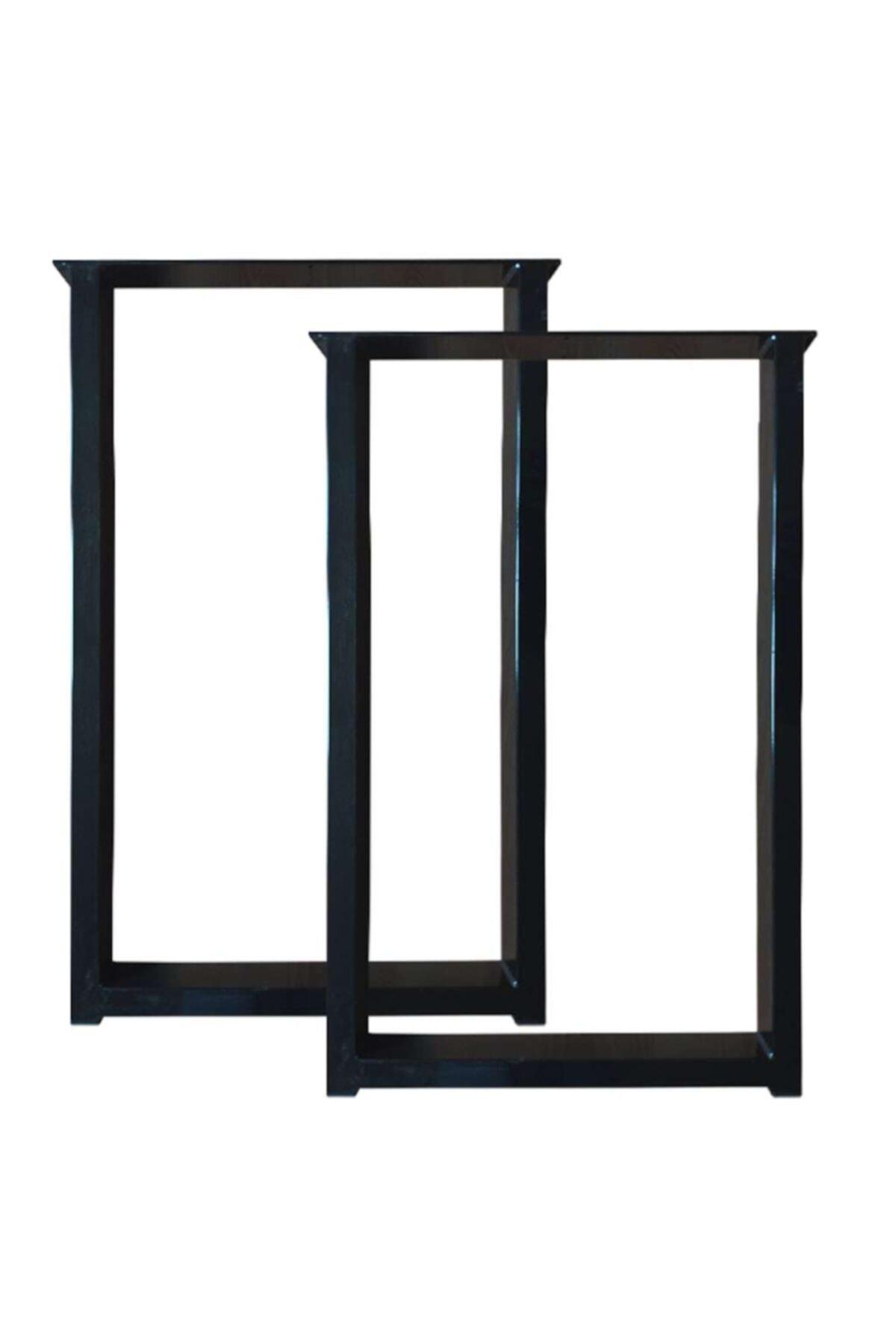 İlgi Trafik Metal Siyah Kare Masa Ayağı 60x70 cm 2 Adet