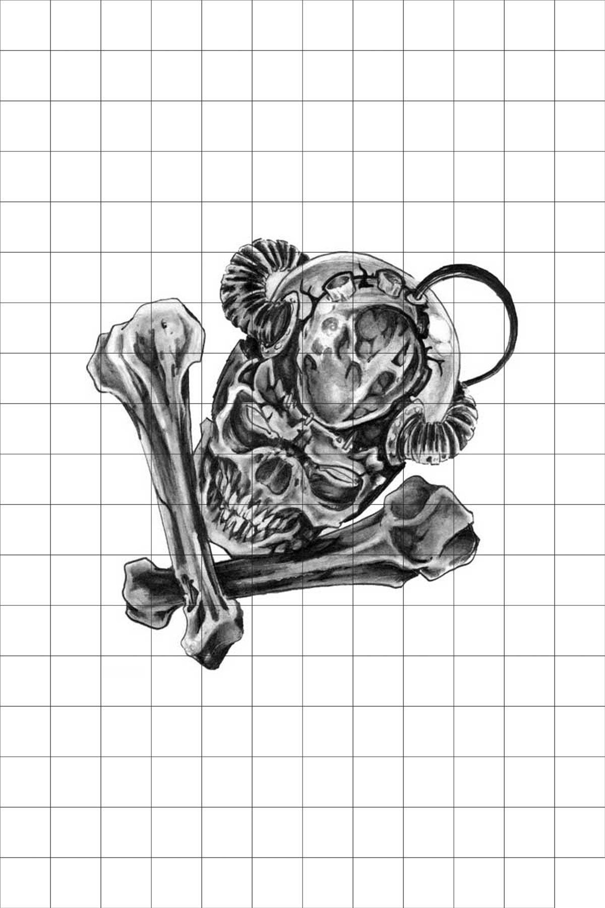 TatFast Ürkütücü 1186 Geçici Dövme Flash Tattoo 0