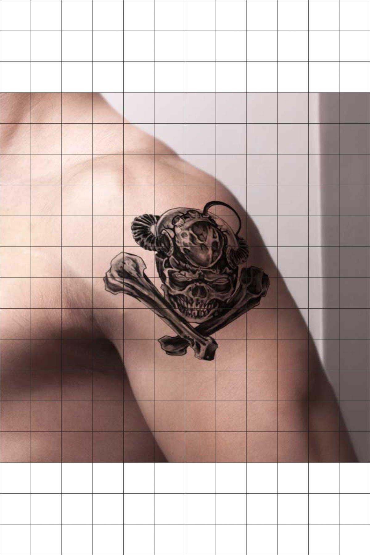 TatFast Ürkütücü 1186 Geçici Dövme Flash Tattoo 1