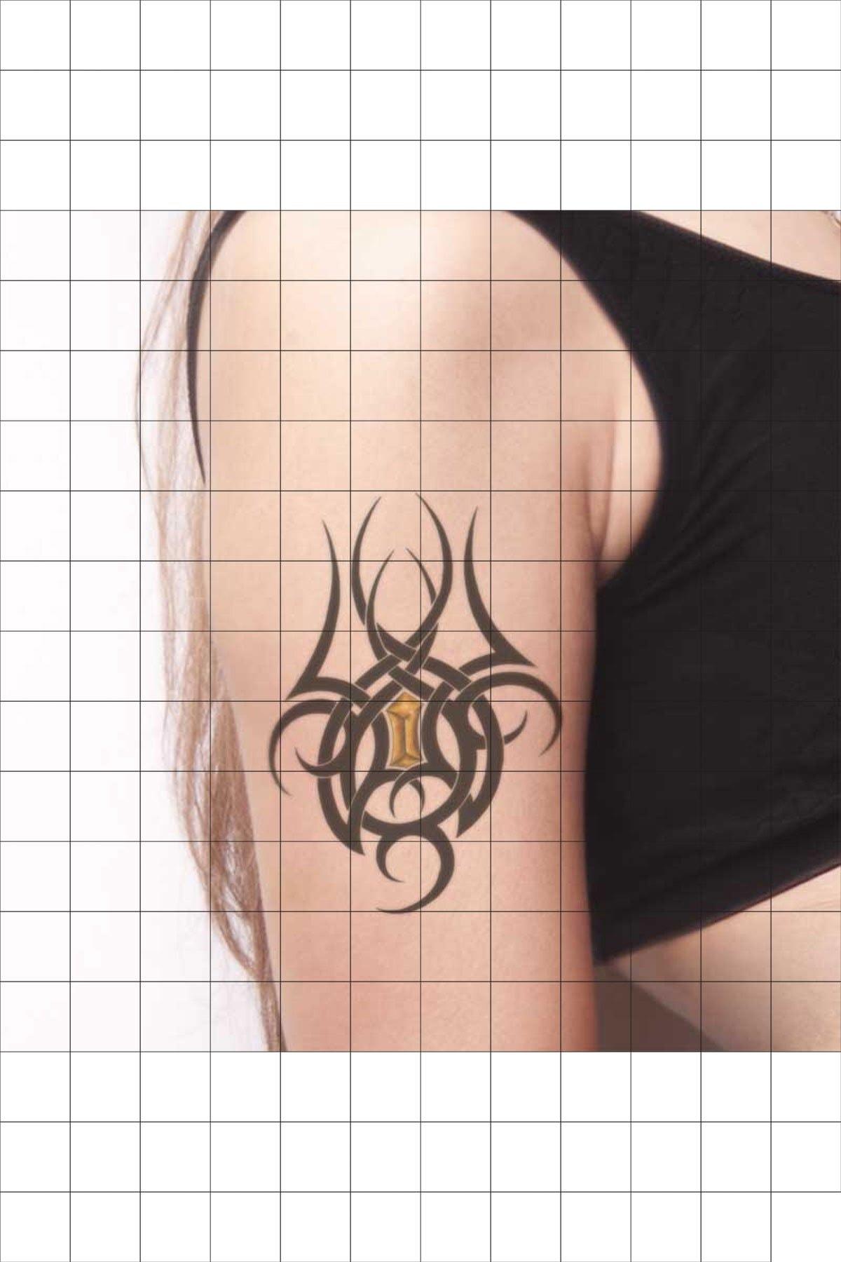 TatFast Tribal 1842 Geçici Dövme Flash Tattoo 0