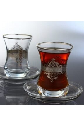 Abka Platin Desenli Çay Bardağı 1