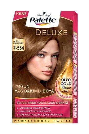 Palette Deluxe Kit Saç Boyası - 7-554 Altın Karamel 0