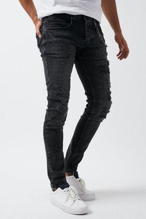 Dsquala Yırtıklı Zincirli Likralı Büyük Beden Siyah Kot Pantolon 2