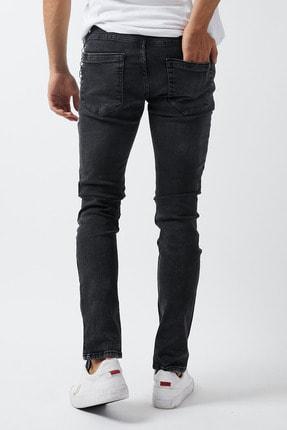 Dsquala Yırtıklı Zincirli Likralı Büyük Beden Siyah Kot Pantolon 3
