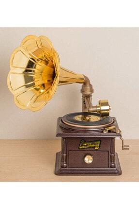 Gift Moda Nostaljik Müzik Kutusu Gramofon GM-1083 0