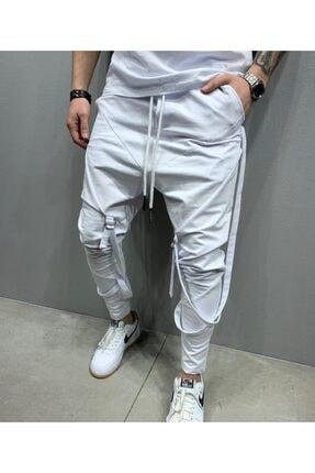 2Y PREMIUM Erkek Beyaz Bağcıklı Jogger Pantolon 2