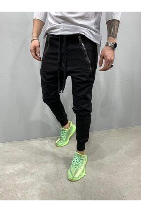 2Y PREMIUM Erkek Siyah Düğmeli Fermuarlı Jogger Pantolon 2