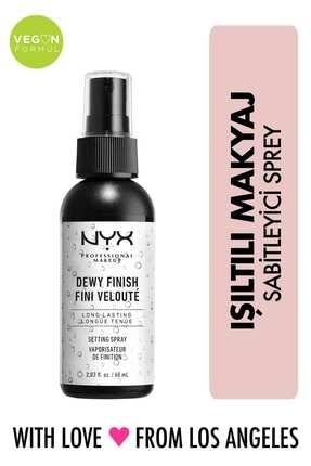 NYX Professional Makeup Makyaj Sabitleyici Sprey - Makeup Setting Spray Dewy Dewy 80 g 0