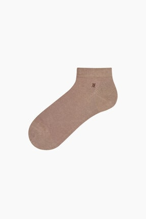 Bross Saf Likralı Patik Erkek Çorabı Vizon 0
