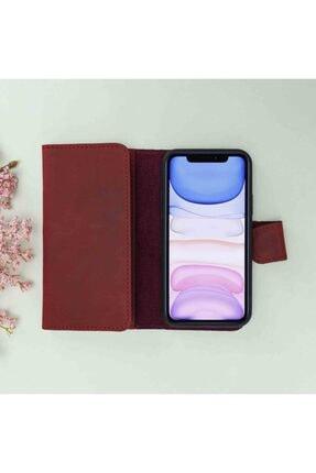 Plm Iphone 11 Santa Mw Deri Kırmızı Telefon Kılıfı 2