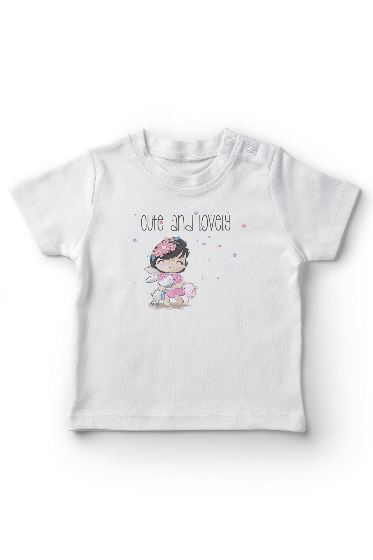 Baby Hayvansever Küçük Çocuk Kız Bebek Tişört Beyaz