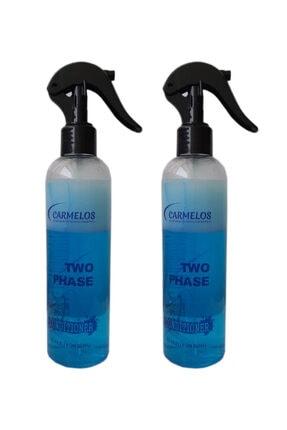 Carmelos Argan Yağlı Çift Fazlı Fön Suyu Mavi Su 250 ml 2 Adet 0