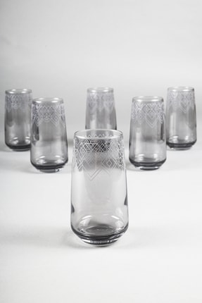 Rakle Grace Füme 6'lı Meşrubat Bardağı Seti 470 Cc 0
