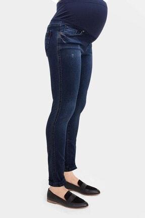 Gaiamom Mavi Beli Lastikli Hamile Skinny Jeans 1