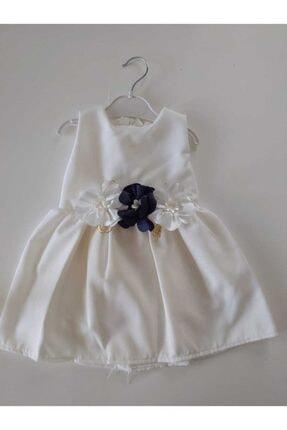Kız Çocuk Beyaz Elbise Çıkarabilir Çiçekli BEYAZ0120991