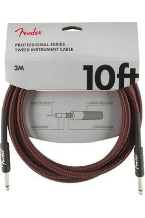 FENDER Professional 3 Metre Kırmızı Tweed Kablo 0